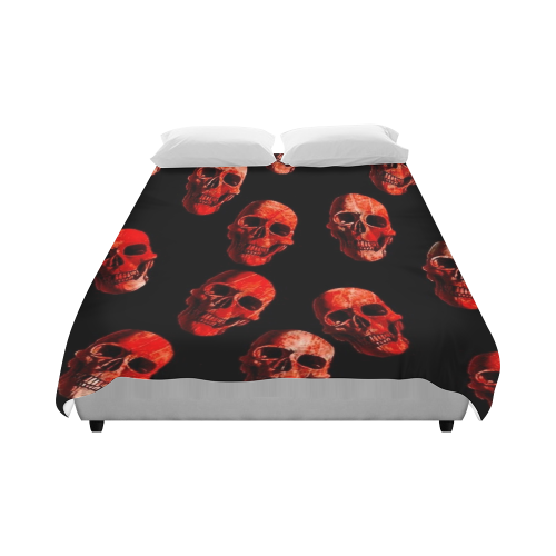 "skulls red Duvet Cover 86""x70"" ( All-over-print)"