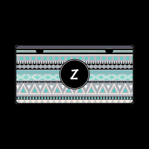 Borders Monogram Z License Plate