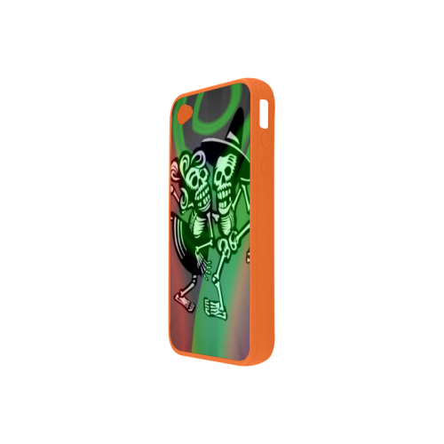 lets dance - Skulls colorful Rubber Case for iPhone 4/4s