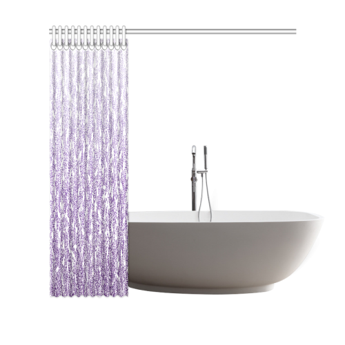 "purple ombre feathers pattern white Shower Curtain 69""x70"""