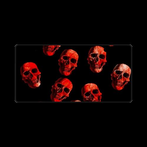 skulls red License Plate