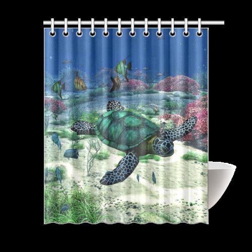 Sea Turtle Shower Curtain 60x72