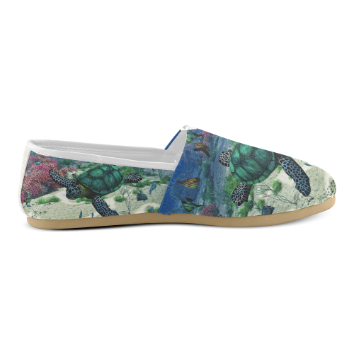Sea Turtle Women's Casual Shoes (Model 004)