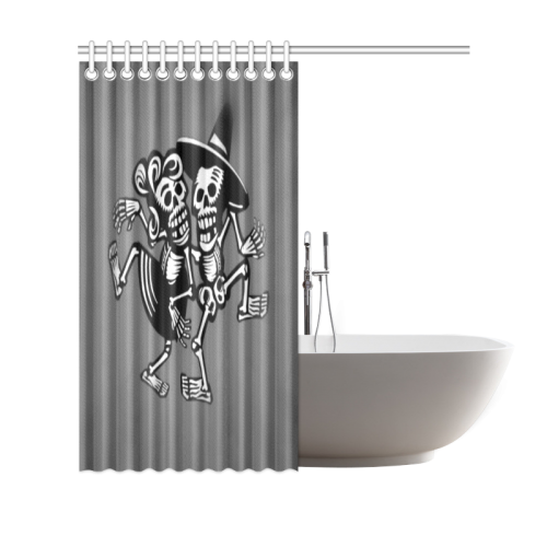 "lets dance- Skulls Shower Curtain 69""x70"""