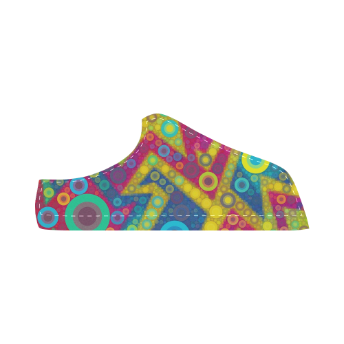 Psychedelic Bubbles Women's Chukka Canvas Shoes (Model 003)
