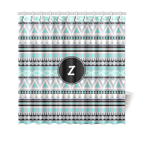 "Borders Monogram Z Shower Curtain 69""x70"""