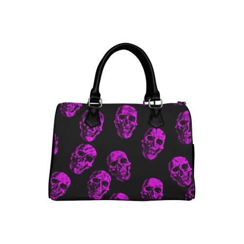 purple skulls Boston Handbag (Model 1621)