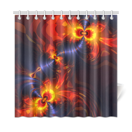 """Butterfly Eyes, Violet Gold Wings Shower Curtain 72""""x72"""""""