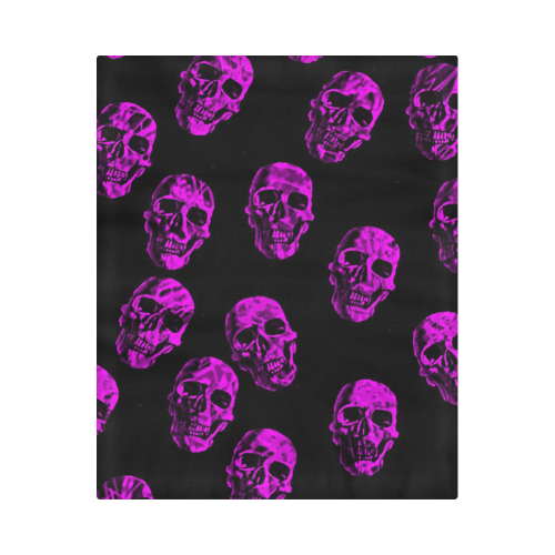 "purple skulls Duvet Cover 86""x70"" ( All-over-print)"