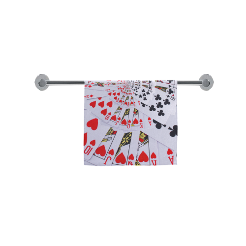 "Royal Flush Poker Cards Spiral Droste Custom Towel 16""x28"""