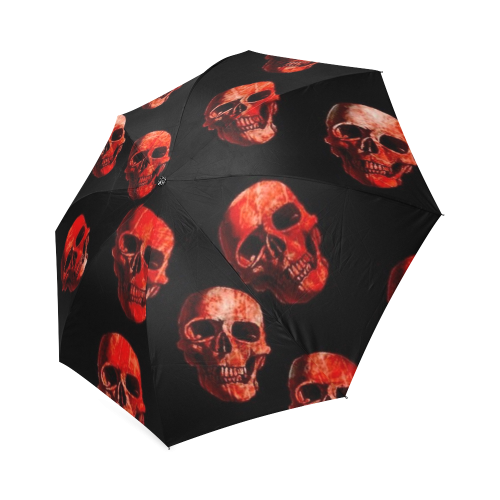 skulls red Foldable Umbrella