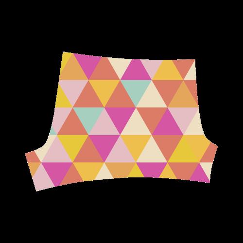 Yellow Geometric Triangle Pattern Briseis Skinny Shorts (Model L04)
