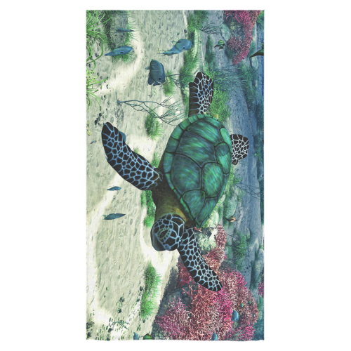 "Sea Turtle Bath Towel 30""x56"""