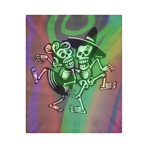 "lets dance - Skulls colorful Duvet Cover 86""x70"" ( All-over-print)"