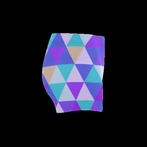 Purple Geometric Triangle Pattern Briseis Skinny Shorts (Model L04)