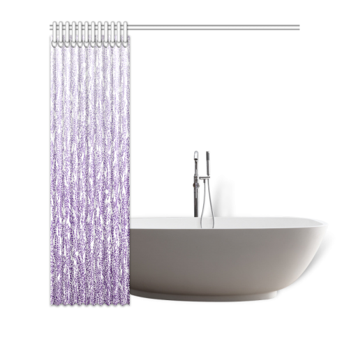 "purple ombre feathers pattern white Shower Curtain 72""x72"""