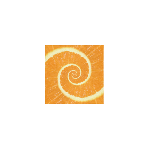 "Citrus Orange Spiral Droste Square Towel 13""x13"""