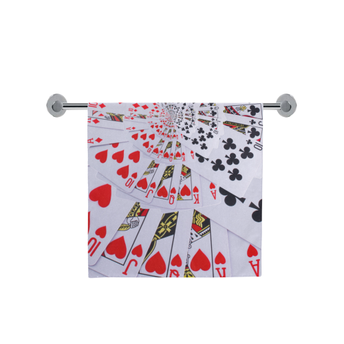 "Royal Flush Poker Cards Spiral Droste Bath Towel 30""x56"""