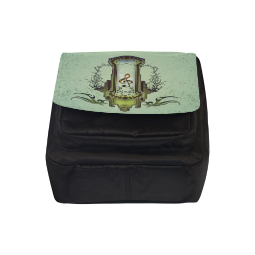 Clef on decorative button Crossbody Nylon Bags (Model 1633)
