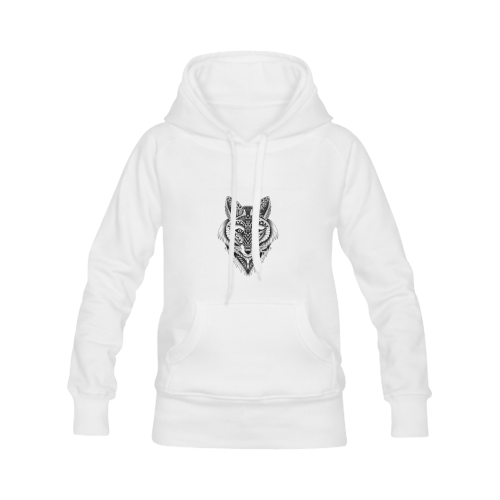 Foxy Wolf ornate animal drawing Men's Classic Hoodies (Model H10)