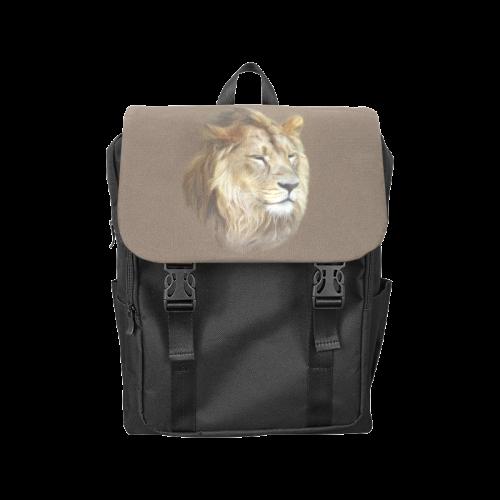 A magnificent painting Lion portrait Casual Shoulders Backpack (Model 1623)