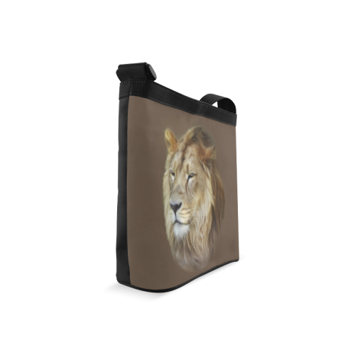 A magnificent painting Lion portrait Crossbody Bags (Model 1613)
