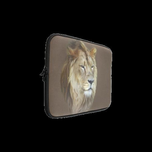 A magnificent painting Lion portrait Custom Laptop Sleeve 15''