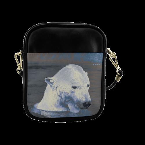 Swimming polar Baer Sling Bag (Model 1627)