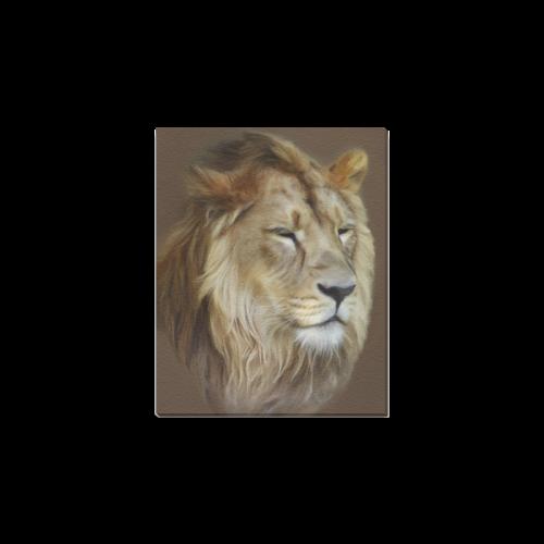 """A magnificent painting Lion portrait Canvas Print 8""""x10"""""""