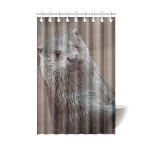 Sweet Young Otter Shower Curtain 48x72
