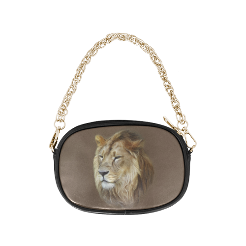 A magnificent painting Lion portrait Chain Purse (Model 1626)