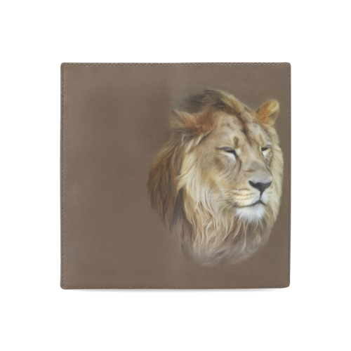 A magnificent painting Lion portrait Women's Leather Wallet (Model 1611)