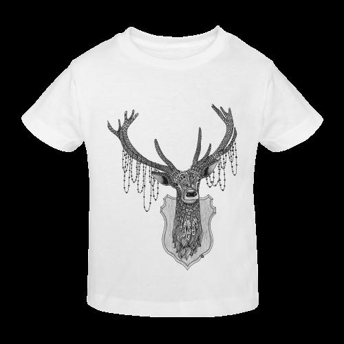 Ornate Deer head drawing - pattern art Sunny Youth T-shirt (Model T04)