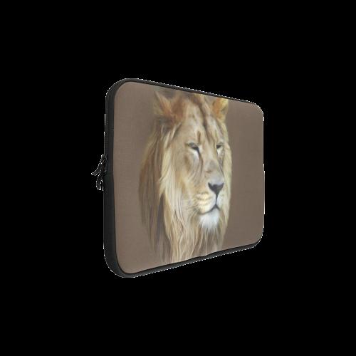 A magnificent painting Lion portrait Macbook Pro 17''