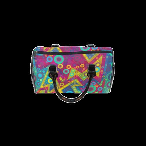 Psychedelic Bubbles Boston Handbag (Model 1621)