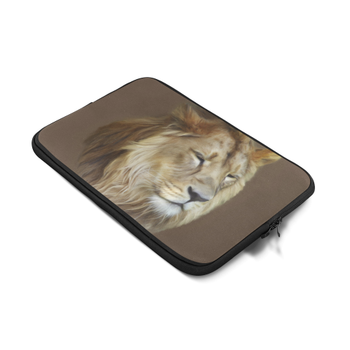 "A magnificent painting Lion portrait Custom Sleeve for Laptop 17"""