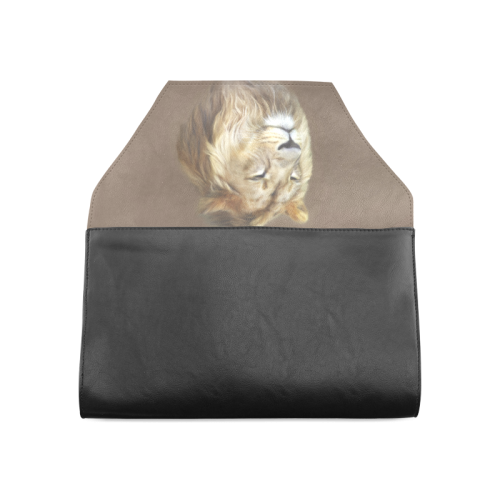 A magnificent painting Lion portrait Clutch Bag (Model 1630)