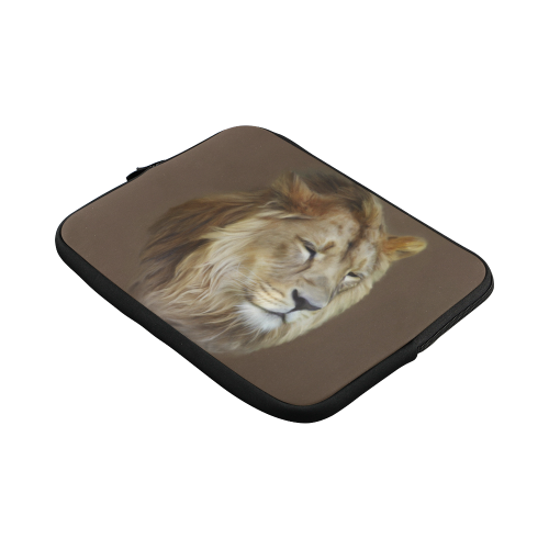 A magnificent painting Lion portrait Custom Laptop Sleeve 13""