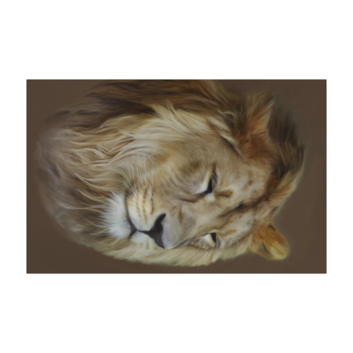 "A magnificent painting Lion portrait Poster 22""x34"""