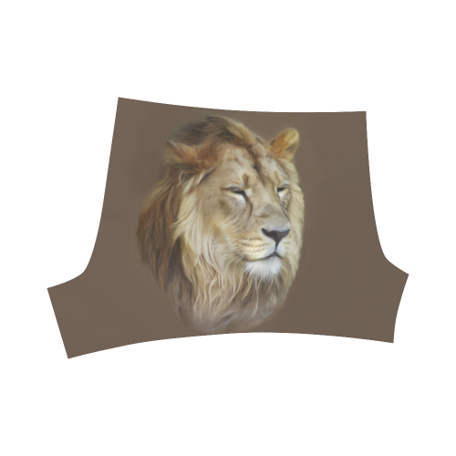 A magnificent painting Lion portrait Briseis Skinny Shorts (Model L04)