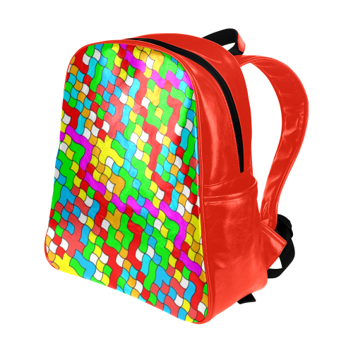 school party colorful Multi-Pockets Backpack (Model 1636)
