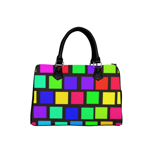colorful checkered Boston Handbag (Model 1621)