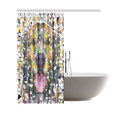 "rainbow dog Shower Curtain 69""x72"""