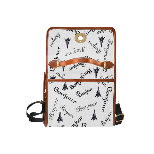 Bonjour Waterproof Canvas Bag/All Over Print (Model 1641)