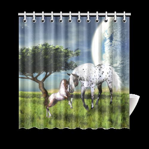 """Horses Love Forever Shower Curtain 69""""x70"""""""