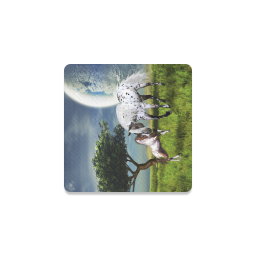 Horses Love Forever Square Coaster