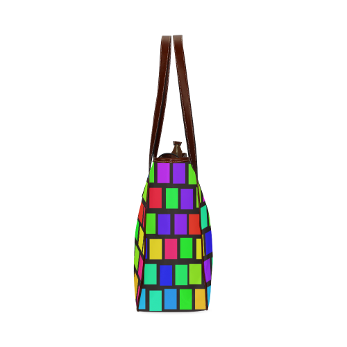 colorful checkered Classic Tote Bag (Model 1644)