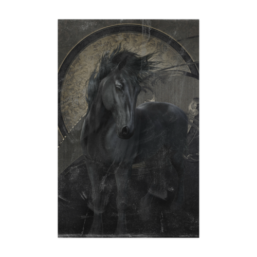 "Gothic Friesian Horse Poster 22""x34"""