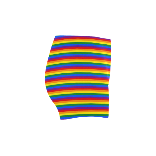 Gay Pride Rainbow Stripes Briseis Skinny Shorts (Model L04)