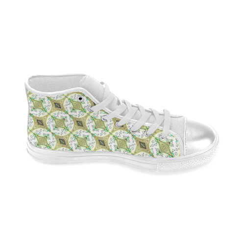 Mandy Green - bubbles light Women's Classic High Top Canvas Shoes (Model 017)